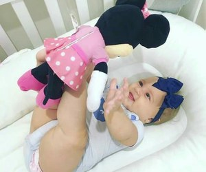 baby, kids, and minnie mouse image