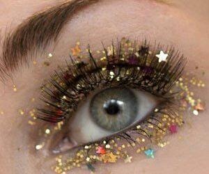 stars, eye, and glitter image