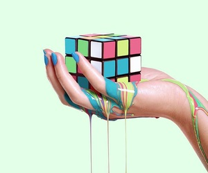background, hand, and illusion image