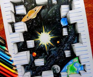 space, art, and drawing image