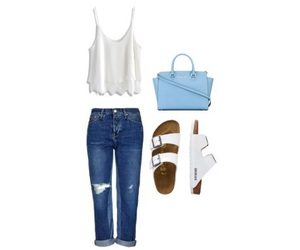 birkenstock, outfits, and Polyvore image