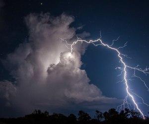 lightning, sky, and night image