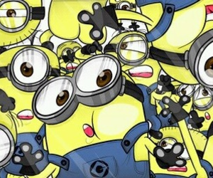 minions, background, and wallpaper image