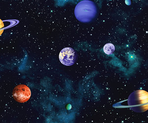 planet, stars, and galaxy image