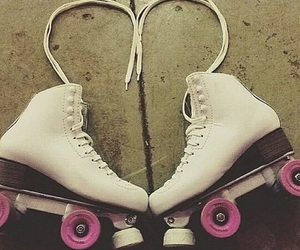 girl, patins, and roller image