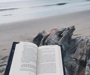 book, sea, and read image