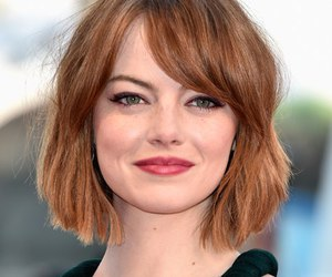emma stone and short hair image