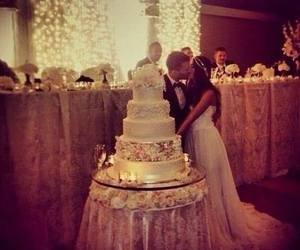 love, wedding, and cake image