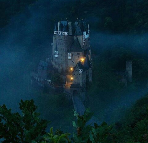 beautiful places, castle, and dark image