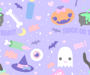 Halloween, kawaii, and pastel image