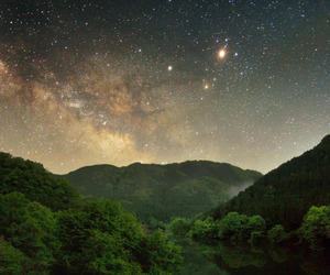 edge, forest, and galaxy image
