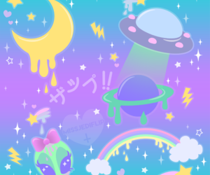 kawaii, pattern, and space image