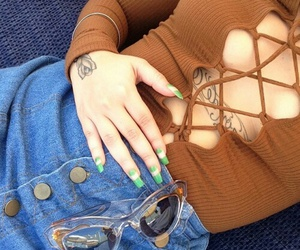 tattoo, clothes, and fashion image