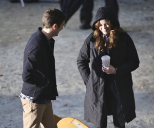 danielle panabaker and grant gustin image