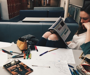 college, hard work, and studying image