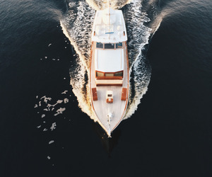 boat, ocean, and summer image