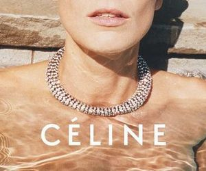 celine, lips, and necklace image