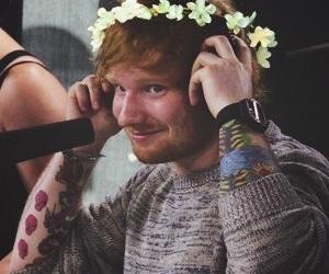 ed sheeran and flowers image