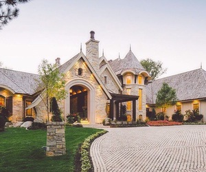 architecture, driveway, and luxury image