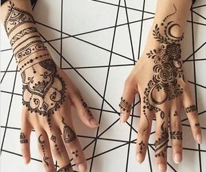 beautiful, henna, and oriental image