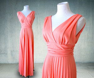 etsy, plunging neckline, and disco dress image
