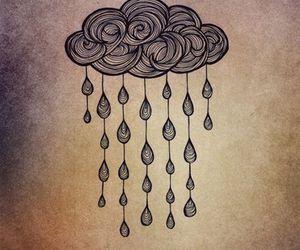 clouds, rain, and art image