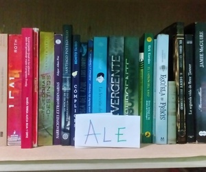 books, my life, and rainbow image