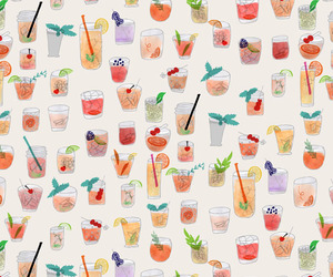 background, drinks, and pattern image