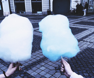 blue, cotton candy, and grunge image