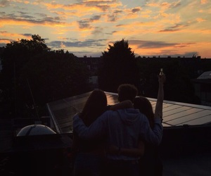 best friends, roof, and summer image