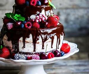 cake, dessert, and fruit image