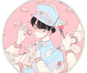 anime, pastel, and pink image