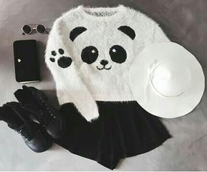 panda, moda, and outfit image