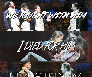 George Washington, hamilton, and Lyrics image