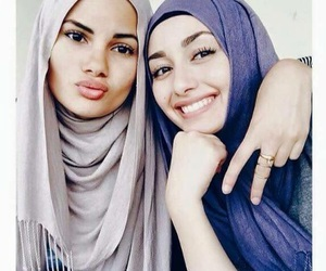 hijab, sisters, and islam image
