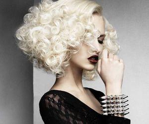 gothic makeup, gothic design, and platinum curls image