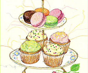 color, cupcake, and illustration image