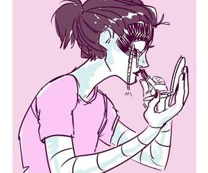 draws, illustration, and pink image