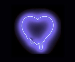 heart, neon, and wallpaper image
