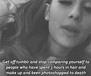quote, tumblr, and ariana image