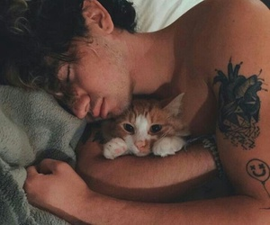 jc caylen, cat, and tattoo image