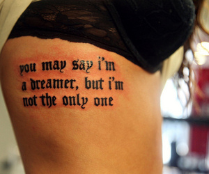 tattoo, dreamer, and quotes image