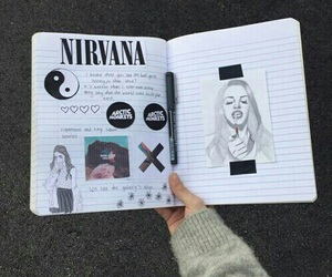grunge, nirvana, and art image