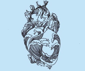 heart, art, and blue image