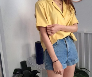 fashion, yellow, and aesthetic image