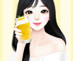 Enakei, girl, and art image