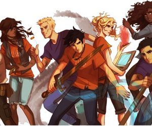percy jackson, annabeth chase, and octavian image