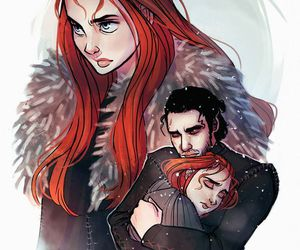 game of thrones, fanart, and siblings image