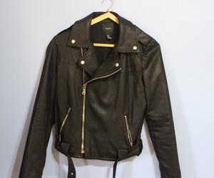 black, jacket, and fashion image