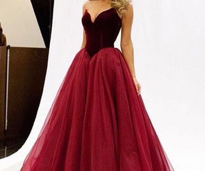 dress, Prom, and red image